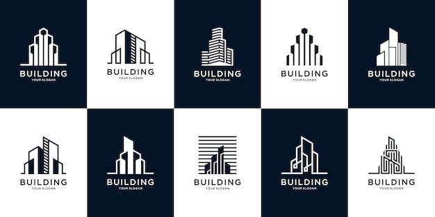Kolekcja inspiracji zestawu architektury budynku