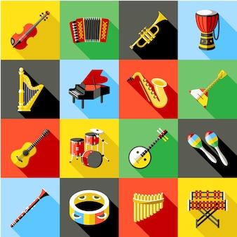 Kolekcja instrumentów muzycznych