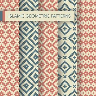 Kolekcja islamskich geometrycznych wzorów bez szwu