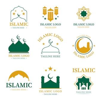 Kolekcja islamskich logo w dwóch kolorach