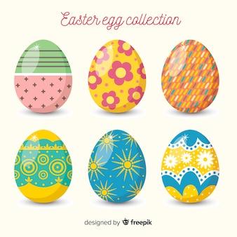 Kolekcja jaj płaskich jaj wielkanocnych