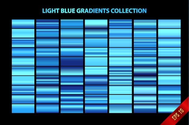 Kolekcja jasnoniebieskich gradientów