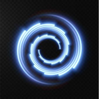Kolekcja jasnoniebieskich linii półtonów promieniowych niebieskich linii wektorowych prędkości ilustracja wektorowa