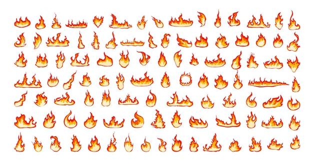 Kolekcja jasnych płomieni.