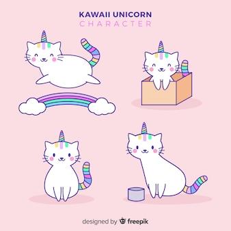 Kolekcja jednorożców kawaii