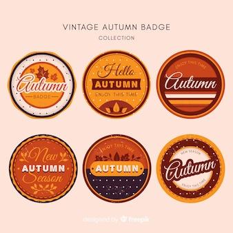 Kolekcja jesień etykiety z liści