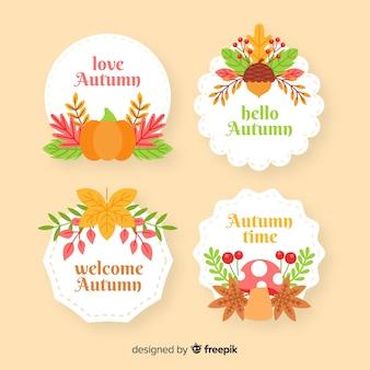 Kolekcja jesień odznaka płaska konstrukcja