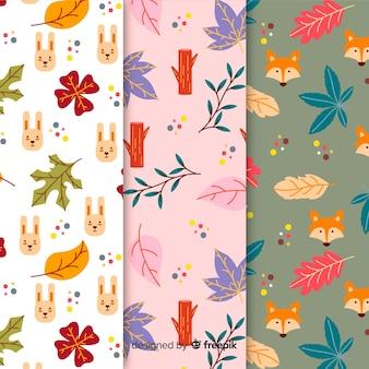 Kolekcja jesień wzór płaska