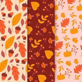 Kolekcja jesień wzór płaski