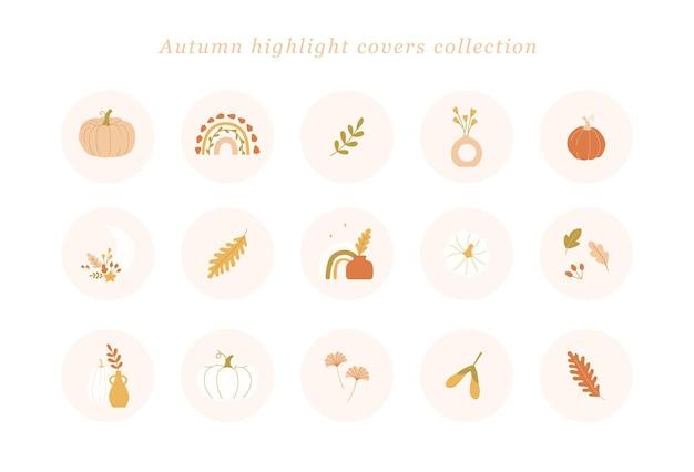 Kolekcja jesiennych okładek highlights