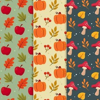 Kolekcja jesiennych wzorów