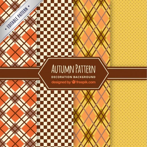Kolekcja jesiennych wzory