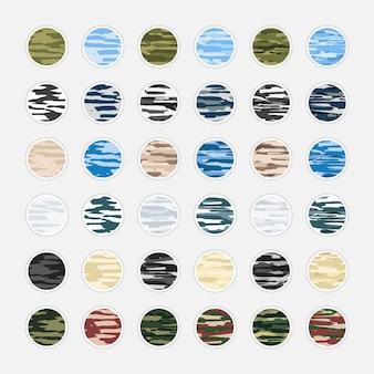 Kolekcja kamuflaż abstrakcyjna okładka instagram
