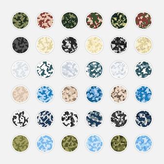 Kolekcja kamuflażu pikselowa historia okładki na instagramie