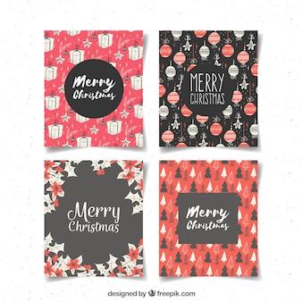 Kolekcja kart bożonarodzeniowych z deseniem wzoru