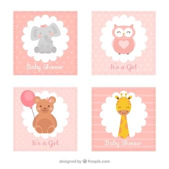 Kolekcja kart dla dzieci w stylu płaski