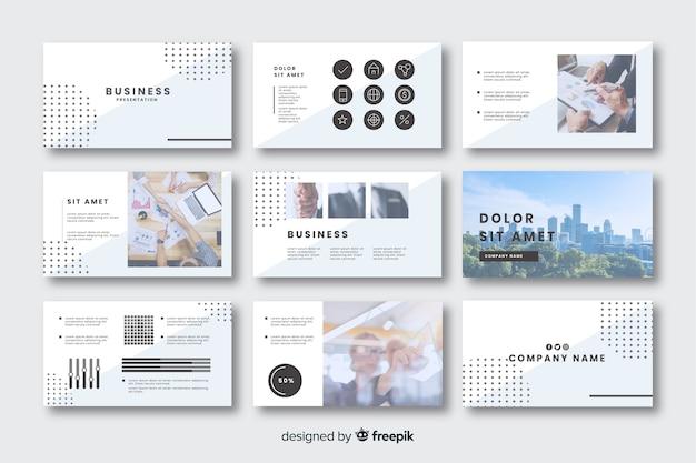 Kolekcja kart do prezentacji biznesowych