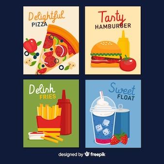 Kolekcja kart fast food