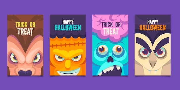 Kolekcja kart halloween