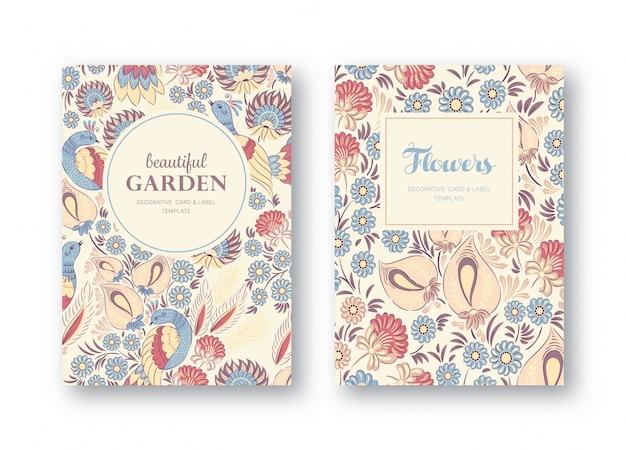 Kolekcja kart kwiatowych