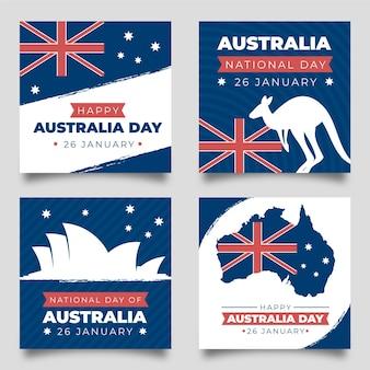 Kolekcja kart okolicznościowych dnia australii