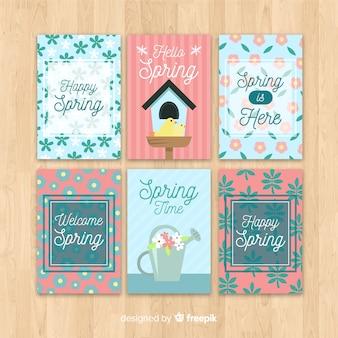 Kolekcja kart wiosennych