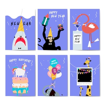 Kolekcja kart z pozdrowieniami wektor