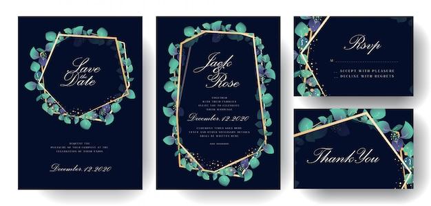 Kolekcja kart zaproszenia ślubne naturalne