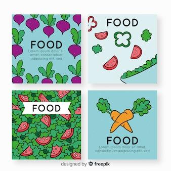 Kolekcja Kart żywności Darmowych Wektorów