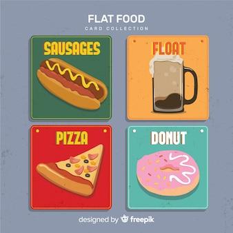 Kolekcja kart żywności