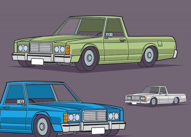 Kolekcja klasycznych pojazdów