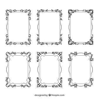 Kolekcja klasycznych ramek ozdobnych