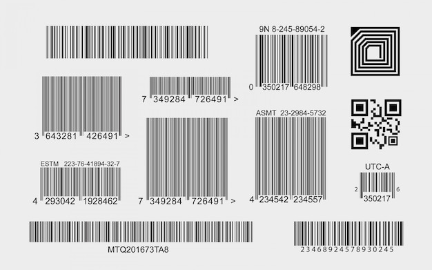 Kolekcja kodów kreskowych