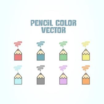 Kolekcja kolorów ołówkiem