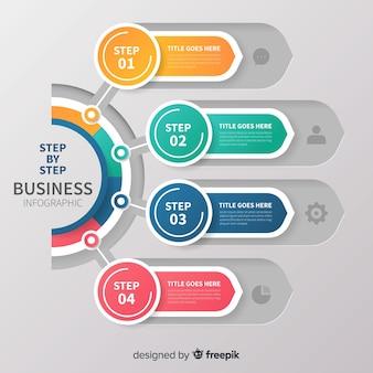 Kolekcja kolorowe infographic kroki