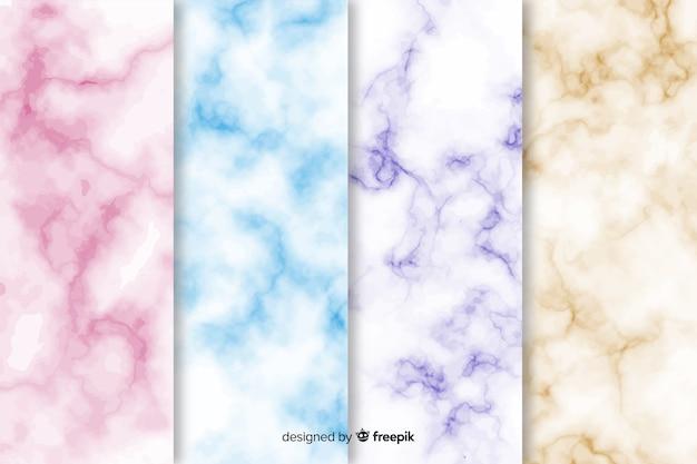 Kolekcja kolorowe tło marmur