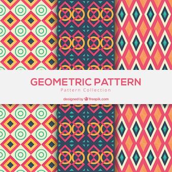 Kolekcja kolorowe wzory wzorów