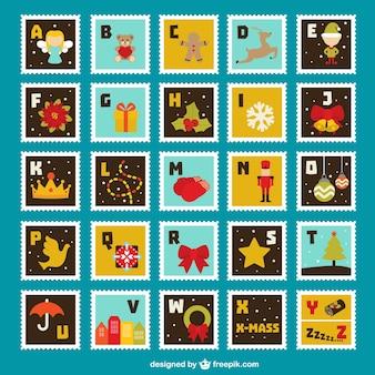 Kolekcja kolorowe znaczki
