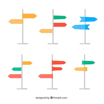 Kolekcja kolorowego sygnału adresów