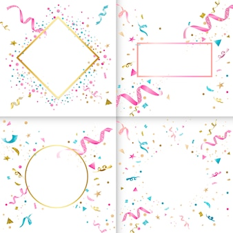 Kolekcja kolorowy konfetti