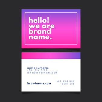 Kolekcja kolorowy minimalny szablon wizytówki