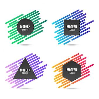 Kolekcja kolorowy nowoczesny transparent