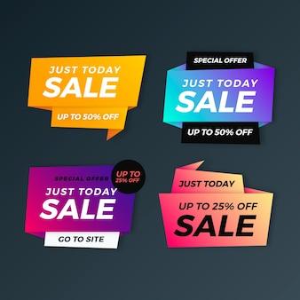 Kolekcja kolorowych banerów sprzedaży