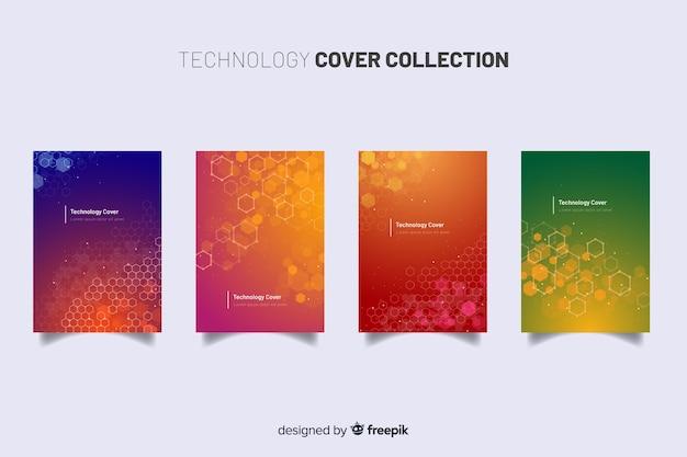 Kolekcja kolorowych broszur technologicznych
