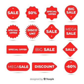 Kolekcja kolorowych etykiet sprzedaży