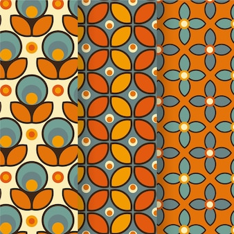 Kolekcja kolorowych geometrycznych wzorów groovy