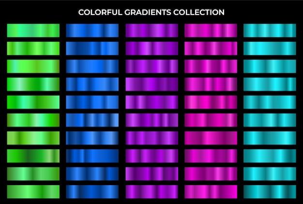 Kolekcja kolorowych gradientów. zestaw gradacji tekstury.