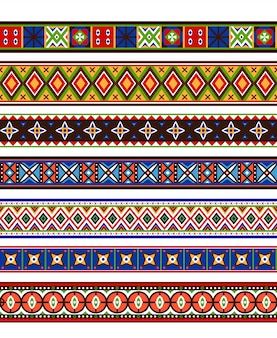 Kolekcja kolorowych granic