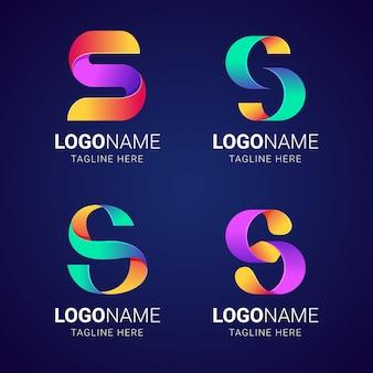 Kolekcja kolorowych logo gradientu s
