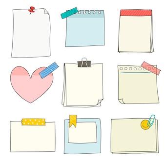 Kolekcja kolorowych materiałów biurowych